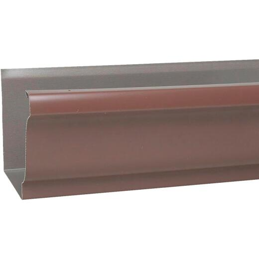 Spectra Metals 5 In. x 10 Ft. K-Style Brown Standard Aluminum Gutter