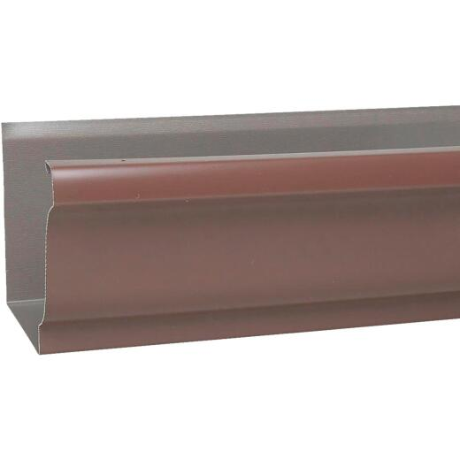 Spectra Metals 5 In. x 10 Ft. K-Style Brown High Tensile Aluminum Gutter