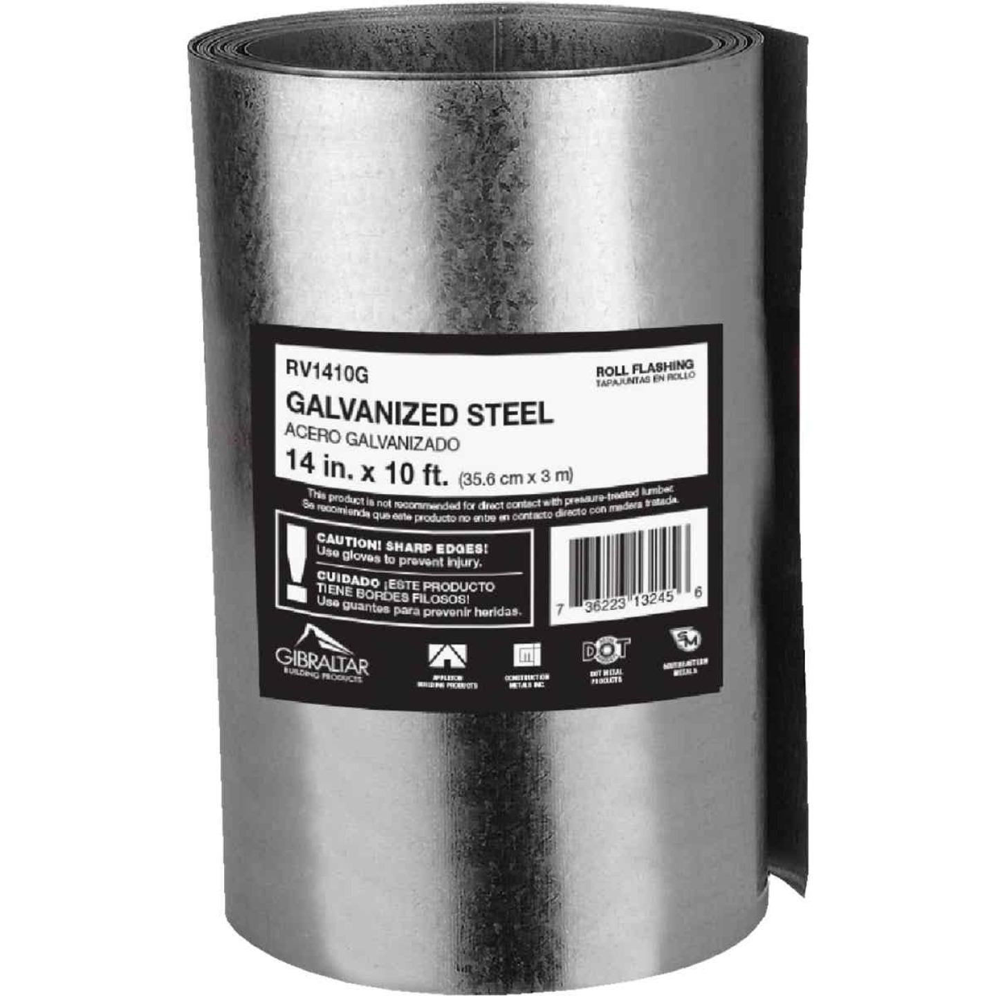 NorWesco 14 In. x 10 Ft. Mill Galvanized Roll Valley Flashing Image 1