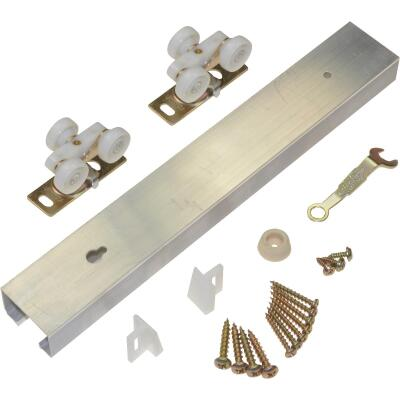 Johnson Hardware 30 In. W. Pocket Door Hardware Set with 60 In. Track