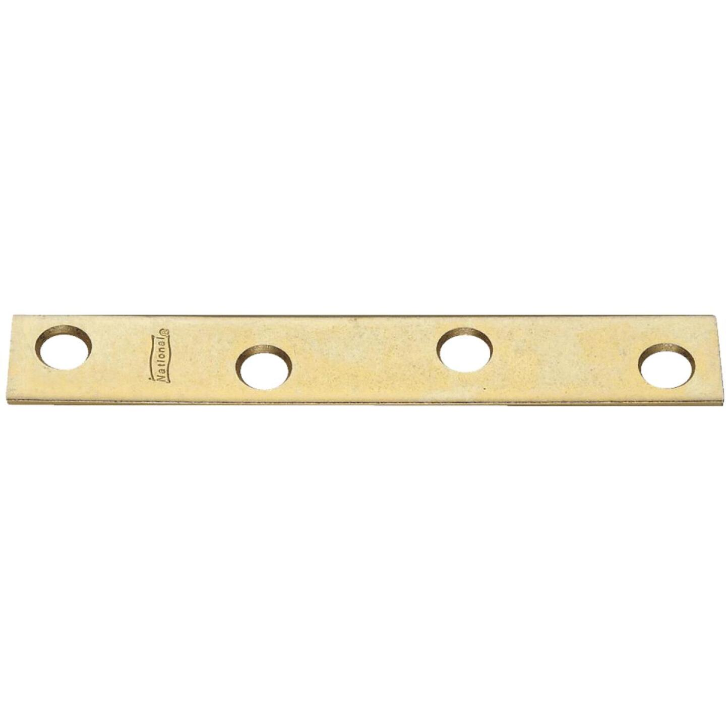 National Catalog 118 4 In. x 5/8 In. Brass Steel Mending Brace (4-Count) Image 1