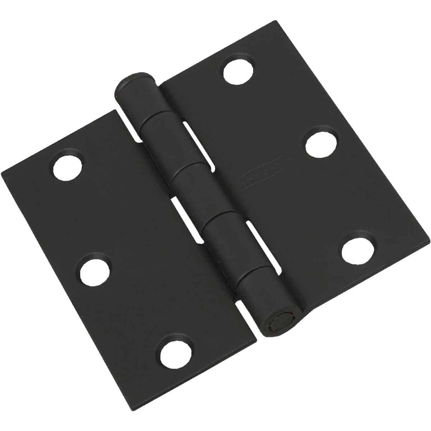 National 3 In. Square Black Door Hinge Image 1