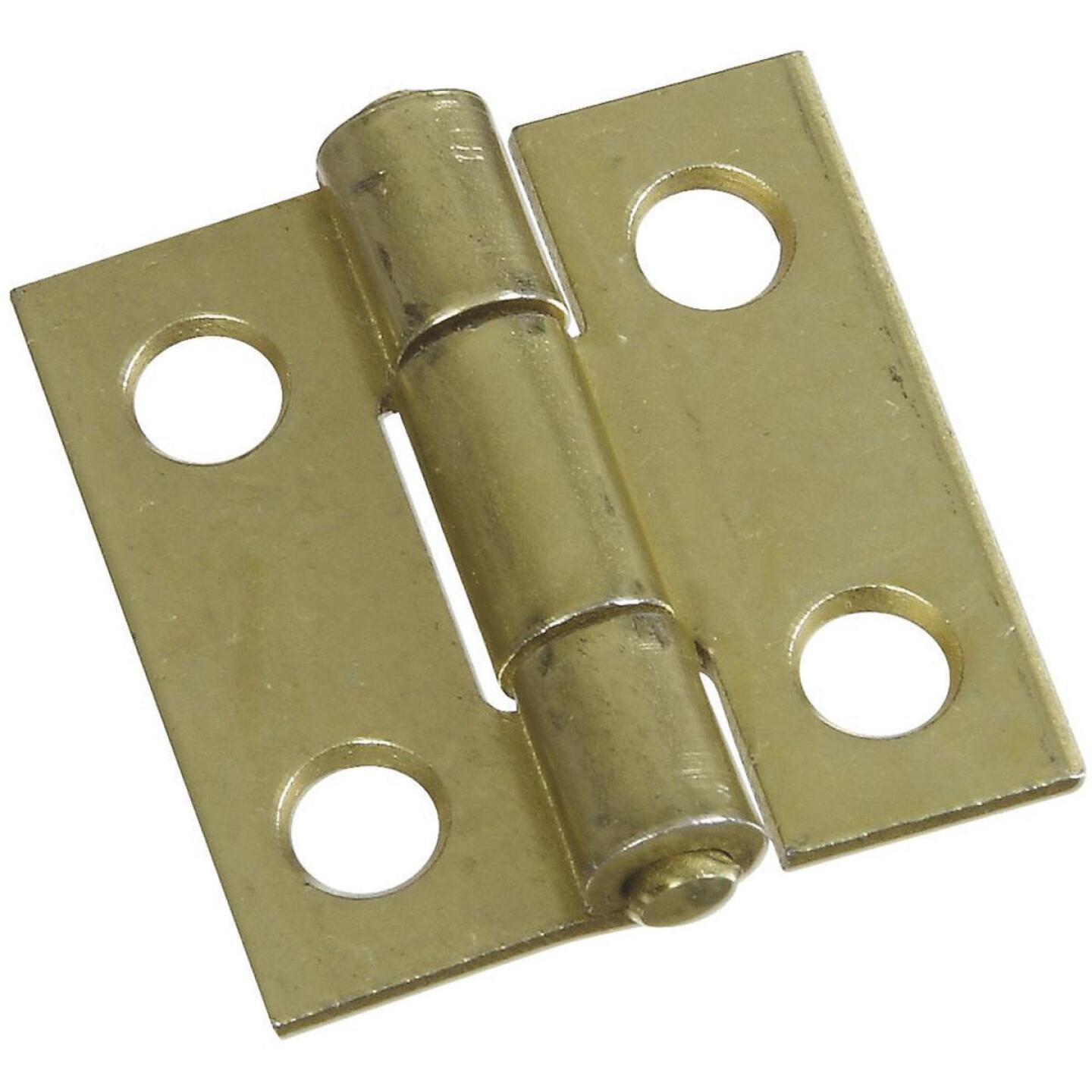National 1 In. Brass Tight-Pin Narrow Hinge (2 Count) Image 1
