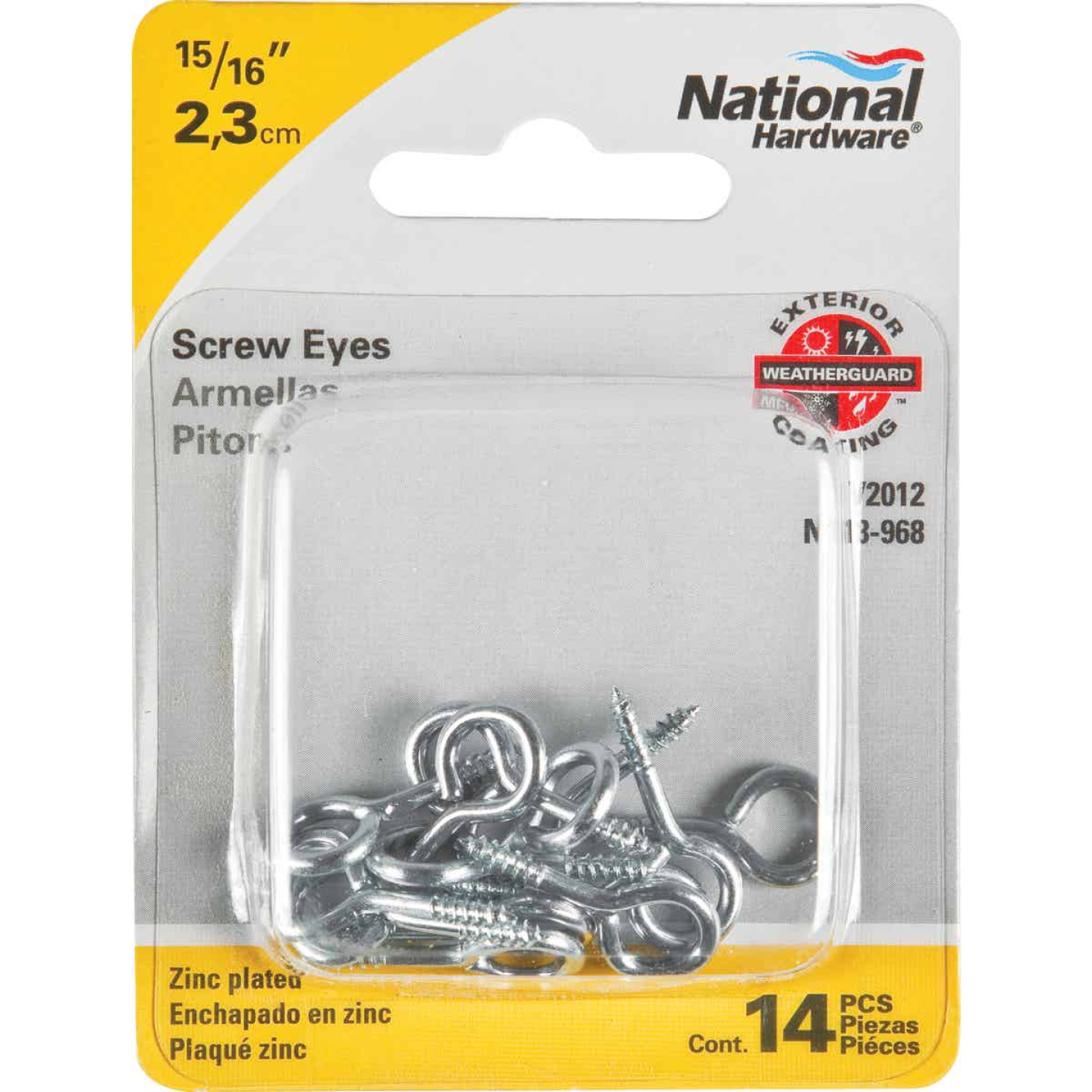 National #114 Zinc Medium Screw Eye (14 Ct.) Image 2