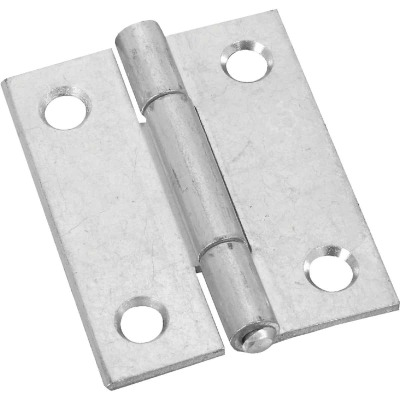National 2 In. Zinc Tight-Pin Narrow Hinge (2-Pack)