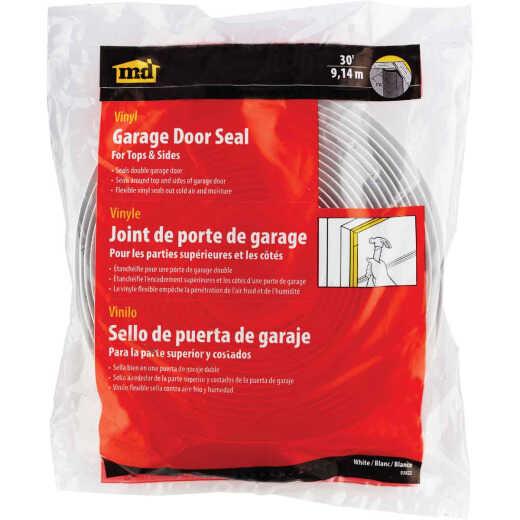 M-D 1-1/2 In. x 30 Ft. White Vina-Strip Garage Door Seal