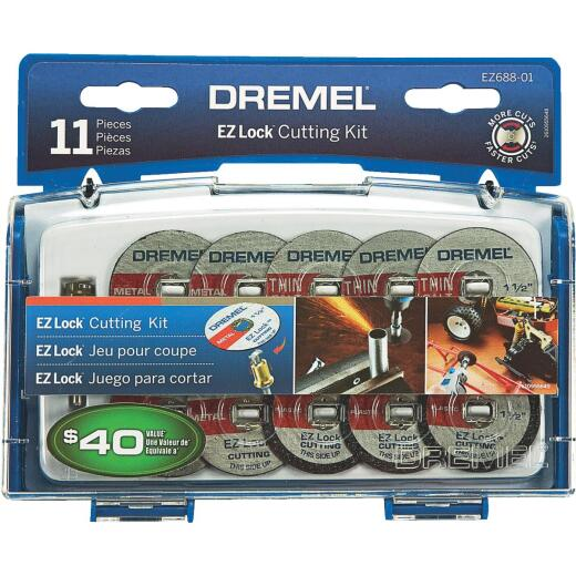 Dremel EZ Lock Cutting Rotary Tool Accessory Kit (11-Piece)