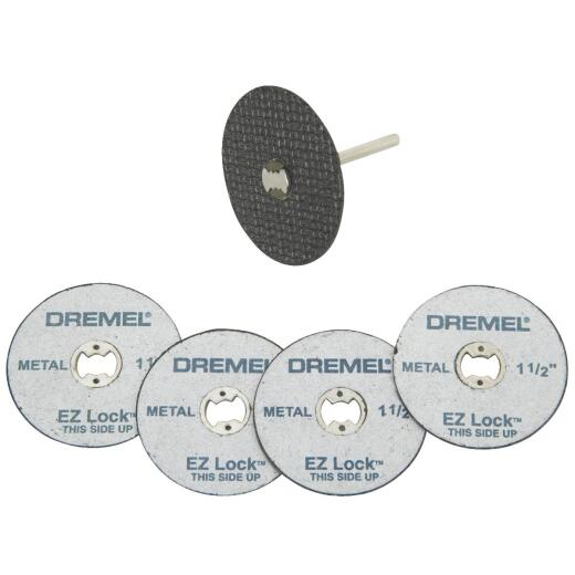 Dremel EZ Lock Mandrel and Cut-Off Wheel Starter Rotary Tool Accessory Kit (5-Piece)