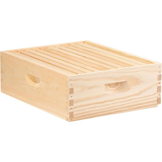 Little Giant 16.25 In. W. x 6.5 In. H.x 19.875 In. L. Assembled Medium Beehive, 10 Frames