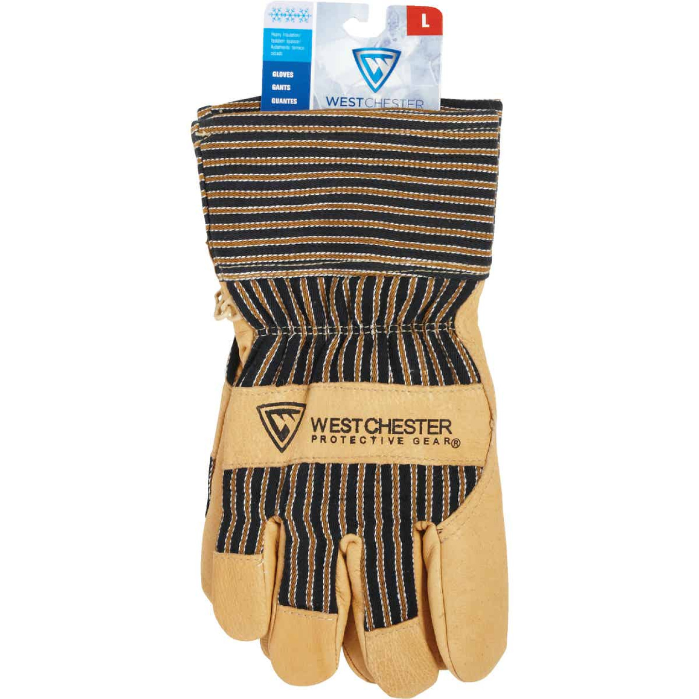West Chester Protective Gear Men's Large Grain Pigskin Leather Work Glove Image 2