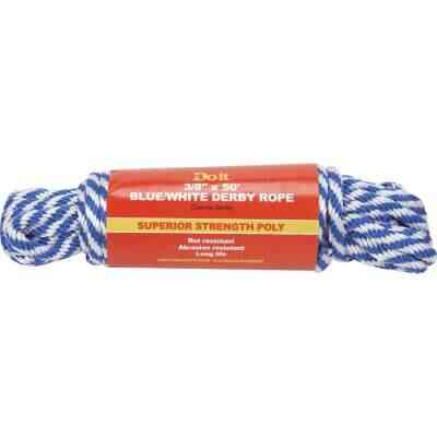Do it 3/8 In. x 50 Ft. Blue & White Derby Polypropylene Packaged Rope