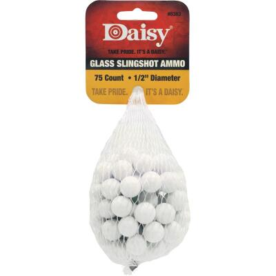 Daisy Glass 1/2 In. Slingshot Ammunition (75-Count)