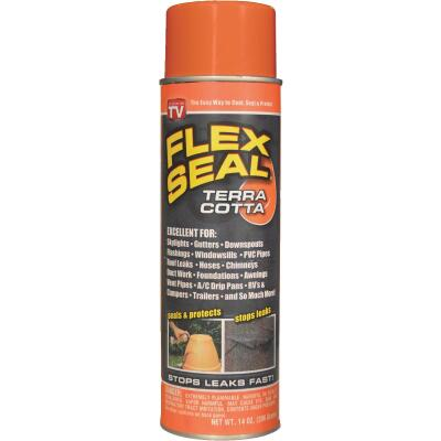 FLEX SEAL 14 Oz. Spray Rubber Sealant, Terra Cotta