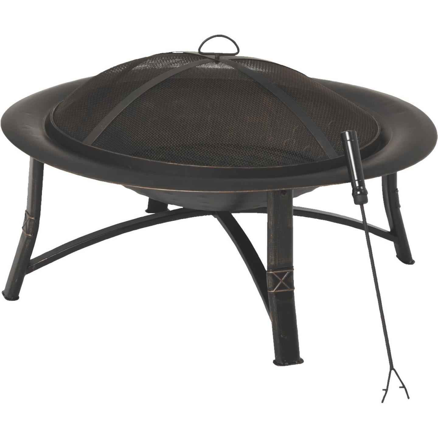 Outdoor Expressions 35 In. Antique Bronze Round Steel Fire Pit Image 1
